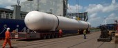 BIG-GAS TANK SafmarineMPV transports LNG compression tanks destined for one of Nigeria's oil and gas projects.