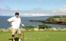 TEEING OFF Global Trade's own Drew Lawler hits the links at the Golf Course of Mauna Kea on the island of Hawaii.
