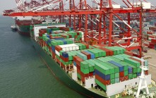 CHINESE PORT OF QINGDAO: Slower China trade means fewer container are moving globally.