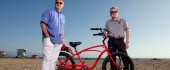 "THUS SPOKE DiCOSTANZO ""We didn't solicit anyone,"" says Pedego founder Don DiCostanzo, who notes the company's impressive growth has all been organic. (Left to right: Don DiCostanzo, Tom Bock, Pedego director of operations)"