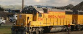 UP Railroad carries shipments of export cargo and import cargo in international trade.