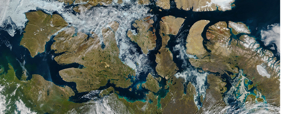 Retreat of Arctic ice opens region as route for shipments of export cargo and import cargo in international trade.