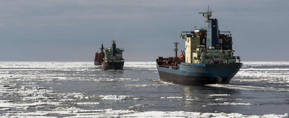 The disappearanceof Arctic ice means the north could emerge as a route for shipments of export cargo and import cargo in international trade.