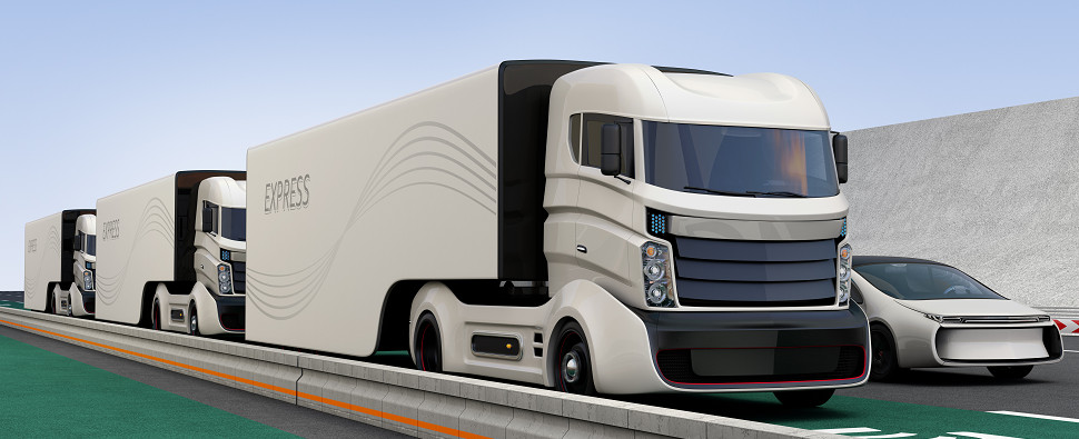 Autonomous vehicles will be used to carry shipments of export cargo and import cargo in international trade.