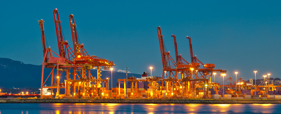 Vancouver is well positioned to handle increases in Asian shipments of export cargo and import cargo in international trade.