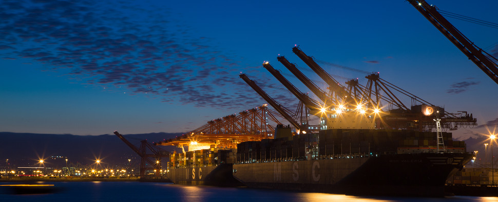 In January, both ports of LA and Long Beach handled more shipments of export cargo and import cargo in international trade.