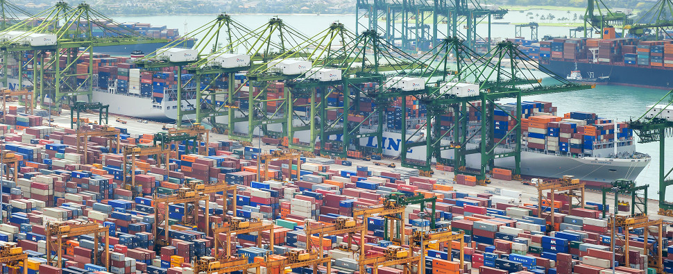 Puzzling choices of ports for transshipments of export cargo and import cargo in international trade.