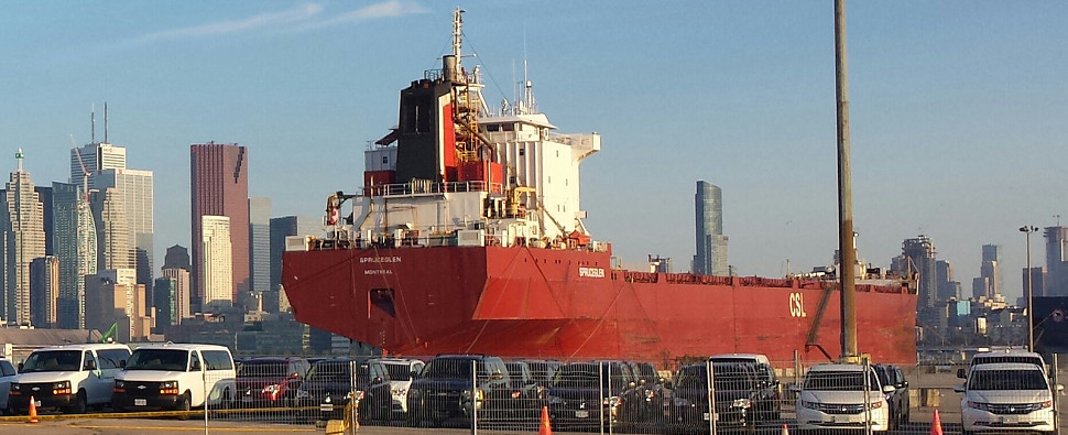 More shipments of export cargo and import cargo in international trade are transiting the St. Laurence Seaway.