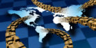 Supply chains handle shipments of export cargo and import cargo in international trade.