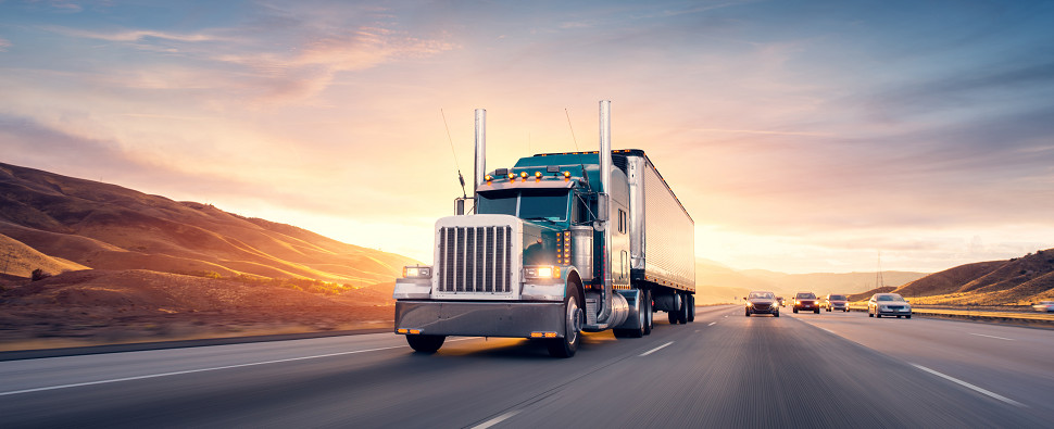 Trucks have carried more shipments of export cargo and import cargo in international trade in North America.