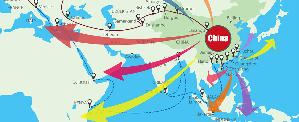 With BRI, China wants to promote more shipments of export cargo and import cargo in international trade.