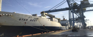 Largest Shipment in December Received at Port of Wilmington