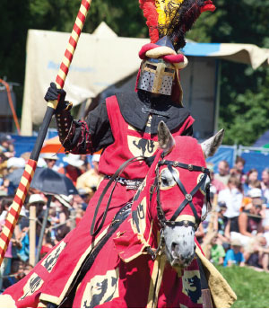 """SIR DALE OF ACCOUNTING Plan a themed event! Stugger used King Arthur's Knights of the Round Table for inspiration, held the meeting in an Irish castle and ended with a full-costumed reenactment on an adjoining """"battlefield."""""""