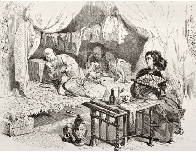 OPIUM DEN BENDER China's 19th century opium trade reversed silver inflow and led the Chinese government to return to printing paper money