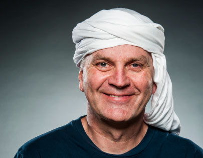 KEEPING COOL Peter Radtke, CEO of JustNeem, who wears a headscarf to protect himself from the intense sun exposure in Africa, says to choose your partners carefully when doing business there.