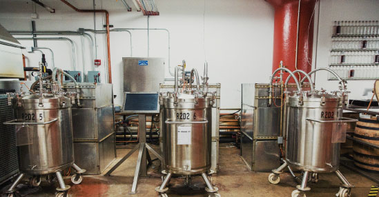 "SPEED TO MARKET Cleveland Whiskey speed-ages bourbon by sending a formula for ""white dog"" whiskey to producers in Kentucky and Indiana, who age the distillate for a couple of weeks and then ship it to Ohio to be pressure-aged."