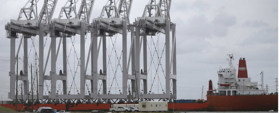 Port of Hourton's new cranes will allow it to handle more shipments of export cargo and import cargo in international trade.