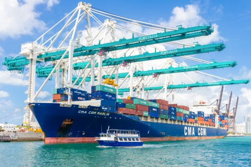 PORTMIAMI PortMiami has a new interstate tunnel and an on-dock intermodal rail partnership with Florida East Coast Railway, which links the port to 70 percent of the U.S. population in four days or less.