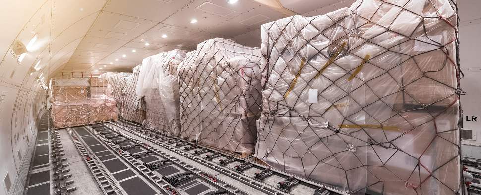 Airlines are carrying more shipments of export cargo and import cargo in international trade.