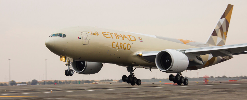Etihad's new air freight serives will be carrying shipments of export cargo and import cargo in international trade.