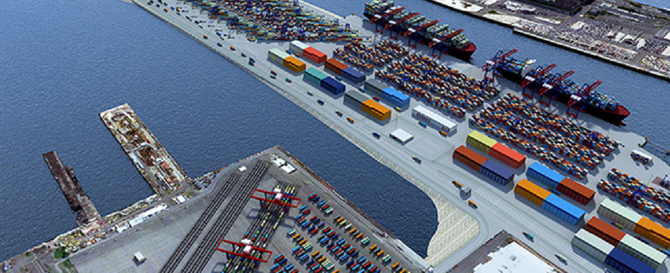 New intermodal facility at port of NYNJ will handle shipments of export cargo and import cargo in international trade.