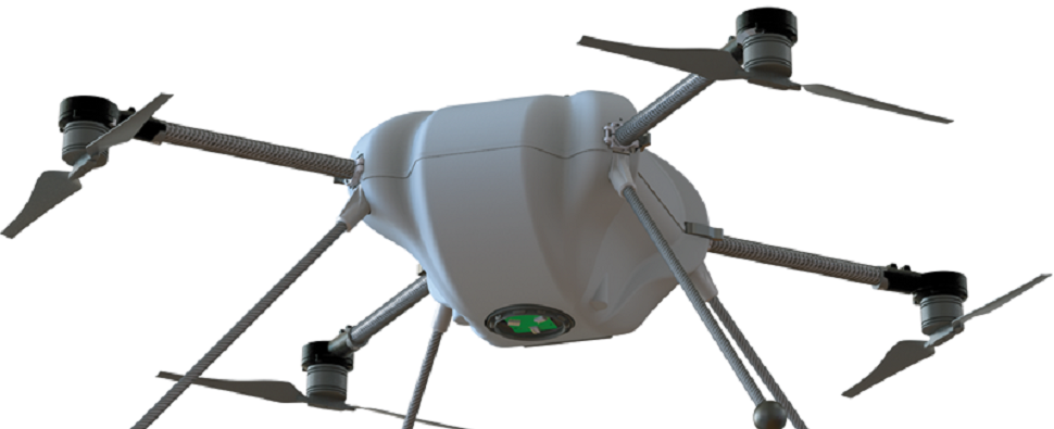 Logistics solution using drones for warehousing shipments of export cargo and import cargo in international trade.