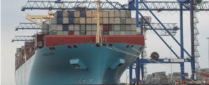First Mega Ship Calls at Israeli Port