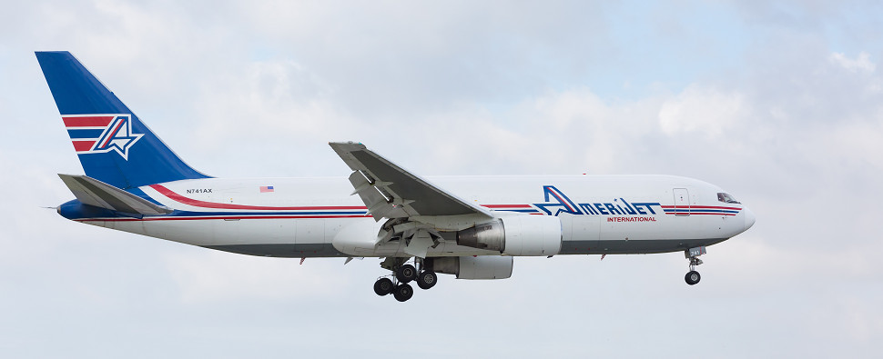 Amerijet carries air shipments of export cargo and import cargo in international trade.
