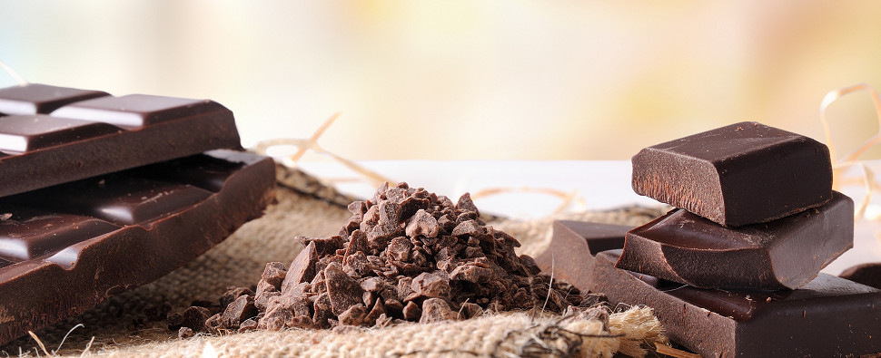 Making chocolate includes a supply chain of shipments of export cargo and import cargo in international trade.