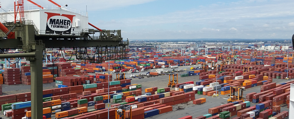 Congestion results when ports handle more shipments of export cargo and import cargo in international trade.