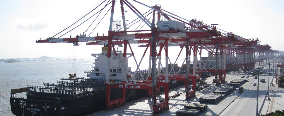 Automation will allow port to handle more shipments of export cargo and import cargo in international trade.