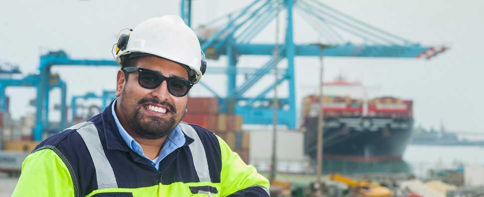 Managing ocean ports that handle shipments of export cargo and import cargo in international trade.