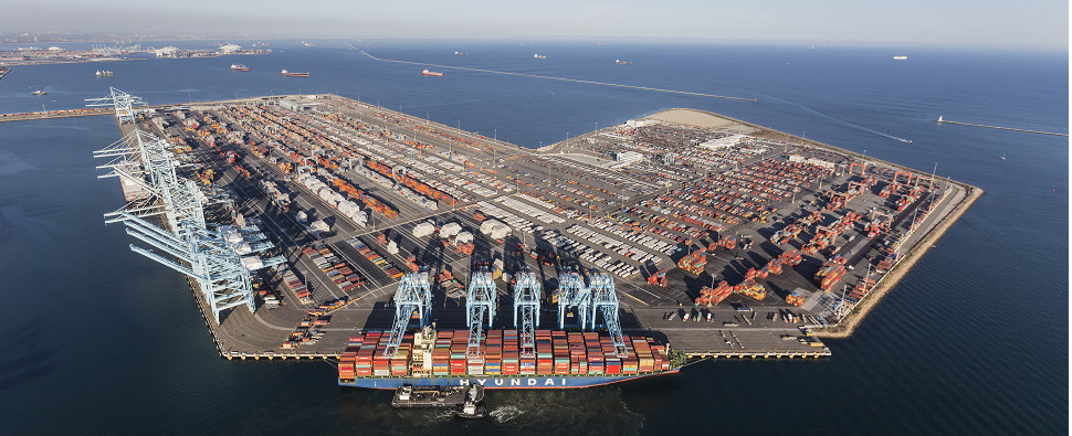 Infrastructure upgrades allow port to handle more shipments of export cargo and import cargo in international trade.