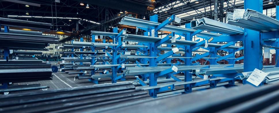 New warehouse will handle steel shipments of export cargo and import cargo in international trade.